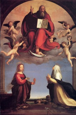 Fra Bartolommeo, God the Father, Saint Mary Magdalene, and Saint Catherine of