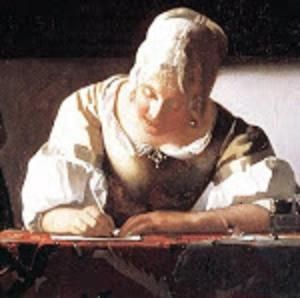 1 1 a Johannes_Vermeer_-_Lady_Writing_a_Letter_with_Her_Maid detail