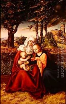 The-Virgin-Mary-With-Saint-Anne-Holding-The-Infant-Jesus
