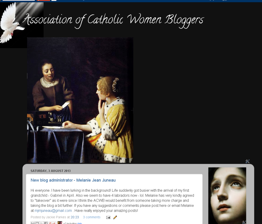 Come join us at Assocciation for Catholic WomenBloggers