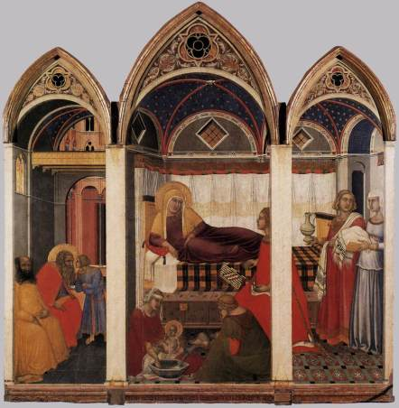Pietro_Lorenzetti_-_The_Birth_of_Mary_-_WGA13553