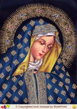 BLESSED VRGIN MARY CUZCO PERU ART
