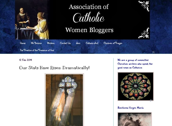 Association Of Catholic Women Bloggers  Our Stats Have Risen Dramatically