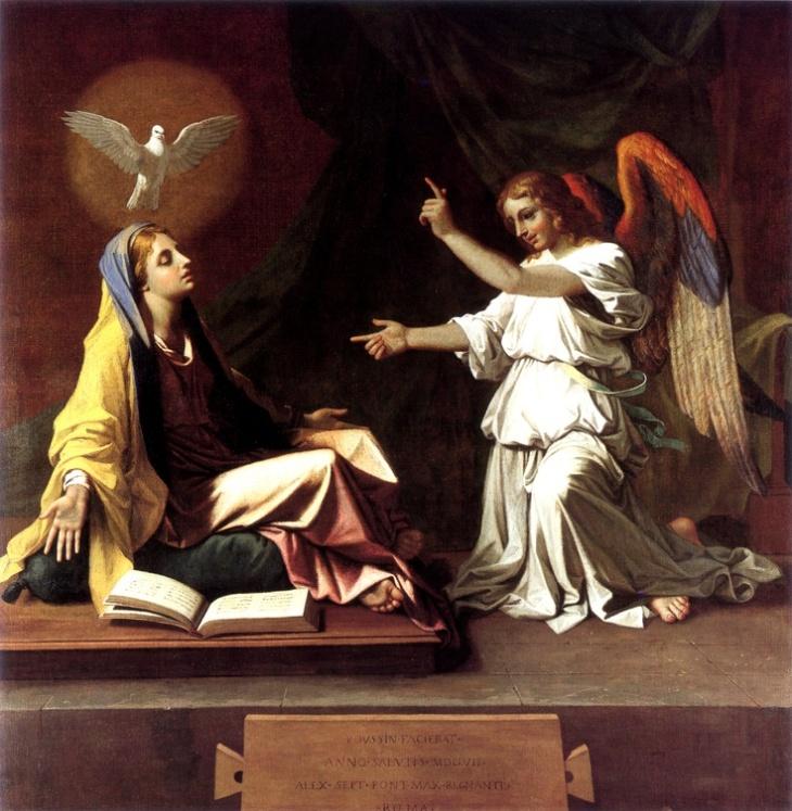 Nicolas Poussin. The Annunciation. c.1655.