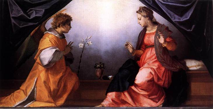 Andrea Del Sarto, The Annunciation, 1528,