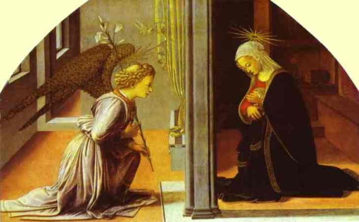 The Annunciation by Fra Filippo Lippi