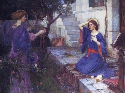 John William Waterhouse , The Annunciation, 1914