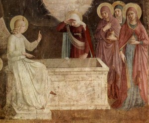 Empty Tomb Fresco by Fra Angelino (between 1437-1446,