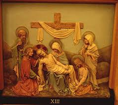 Thirteenth Station - Jesus is taken down from the Cross
