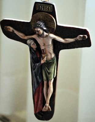 Jesus on the Cross With Mary (D. Bennett)