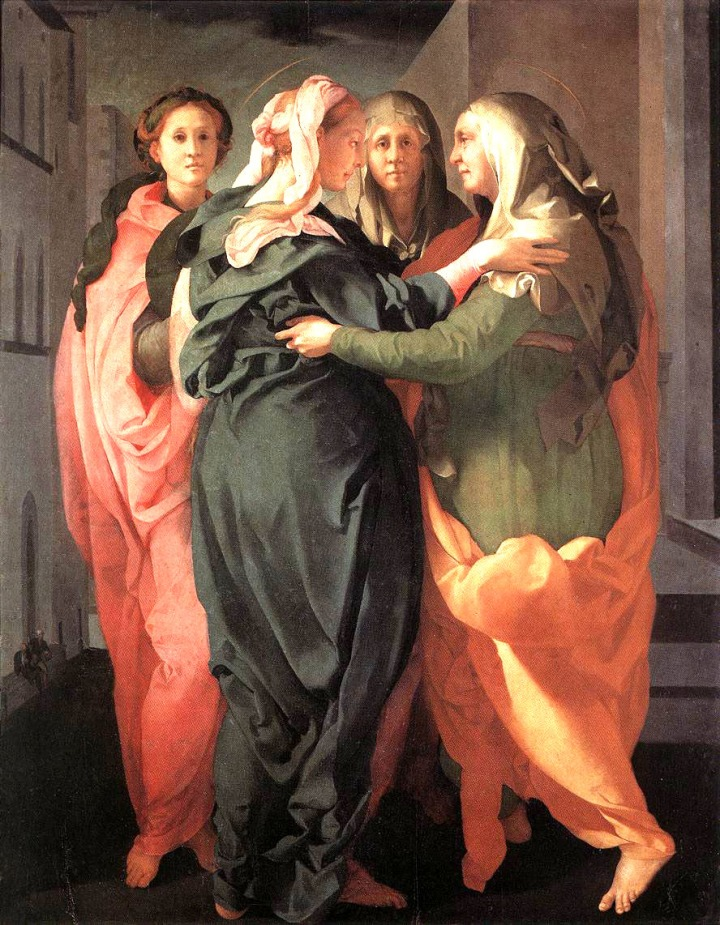 Pontormo Visitation 1528-29 Oil on wood,