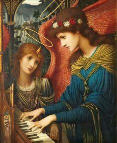 John Melhuish Strudwick - Saint Cecilia (1896)
