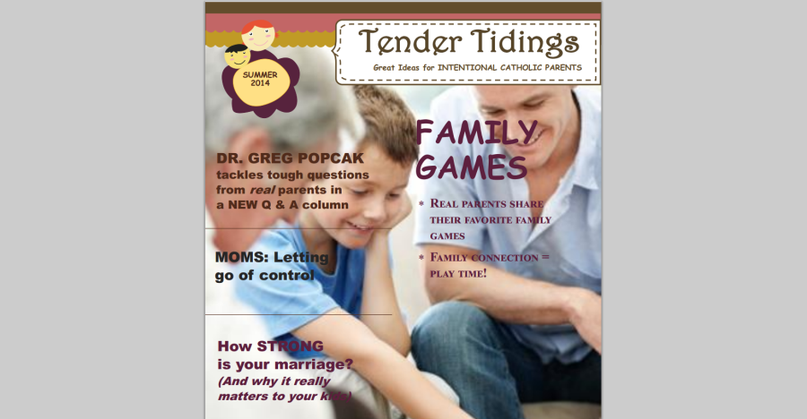 TENDER TIDINGS Summer 2014 NowAvailable!