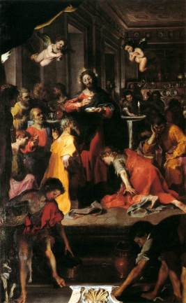 The Institution of the Eucharist, Federico Fiori Barocci, 1609