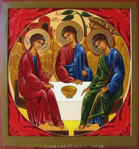 Christian Orthodox handpainted icons made by artist/iconographer..Tamara Rigishvili