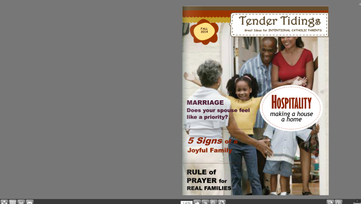 Tender Tidings FALL 2014