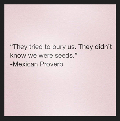 """They Tried To Bury Us…"""
