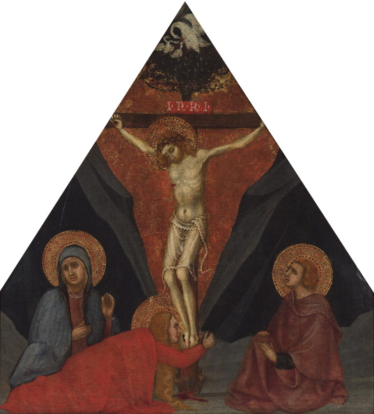 The Crucifixion with the Virgin, Mary Magdalene and St. John the Evangelist, ca 1400. Artist: Andrea di Bartolo (bef. 1389-1428)