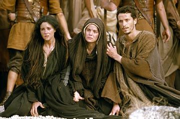 Mary Magdalene, the Blessed Mother, and John in The Passion of the Christ