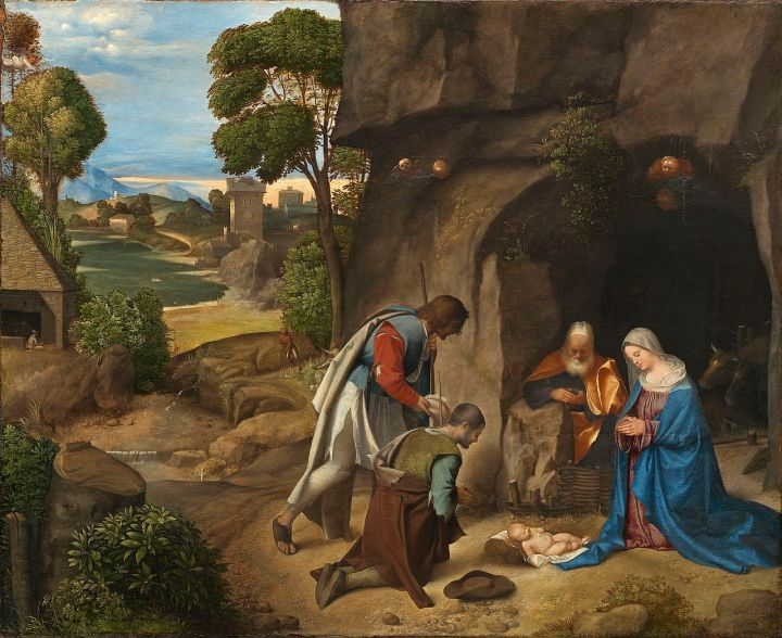 Giorgione (Italian, The Adoration of the Shepherds, 1505/1510,