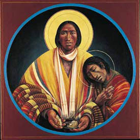 """Jesus and the Beloved Disciple"" by  Fr.  John Giuliani, 1996"