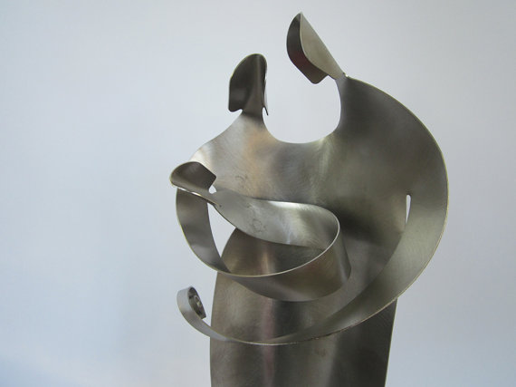 Nativity Stainless Steel Sculpture Art by Chave