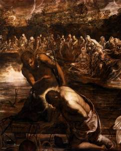 The Baptism of Christ (detail), Tintoretto, 1579-81