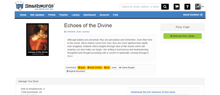Smashwords – Echoes of the Divine – a book by Melanie Jean Juneau