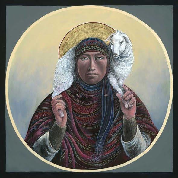 Fr. John Giuliani Paints Native Madonna's and Christ Figures