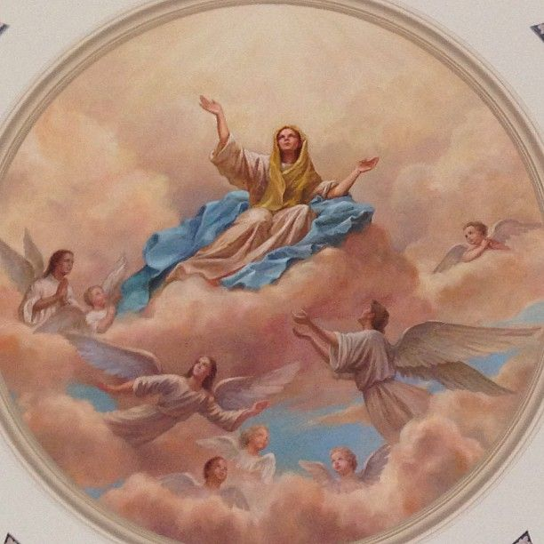 Mural of the Assumption of Mary.(at Basilica of the National Shrine of the Assumption of the Blessed Virgin Mary)