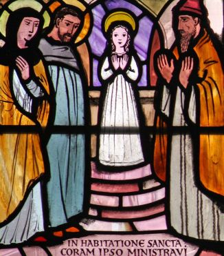 "The Presentation of the Blessed Virgin Mary by Prosper Piatti The Presentation of the Blessed Virgin Mary by Prosper Piatti Melanie Jean Juneau Pinned by Melanie Jean Juneau Pin it Send Edit Photograph of a stained glass window of ""The Presentation of the Blessed Virgin Mary"", Our Lady of Victories, London Photograph of a stained glass window of ""The Presentation of the Blessed Virgin Mary"", Our Lady of Victories, London"