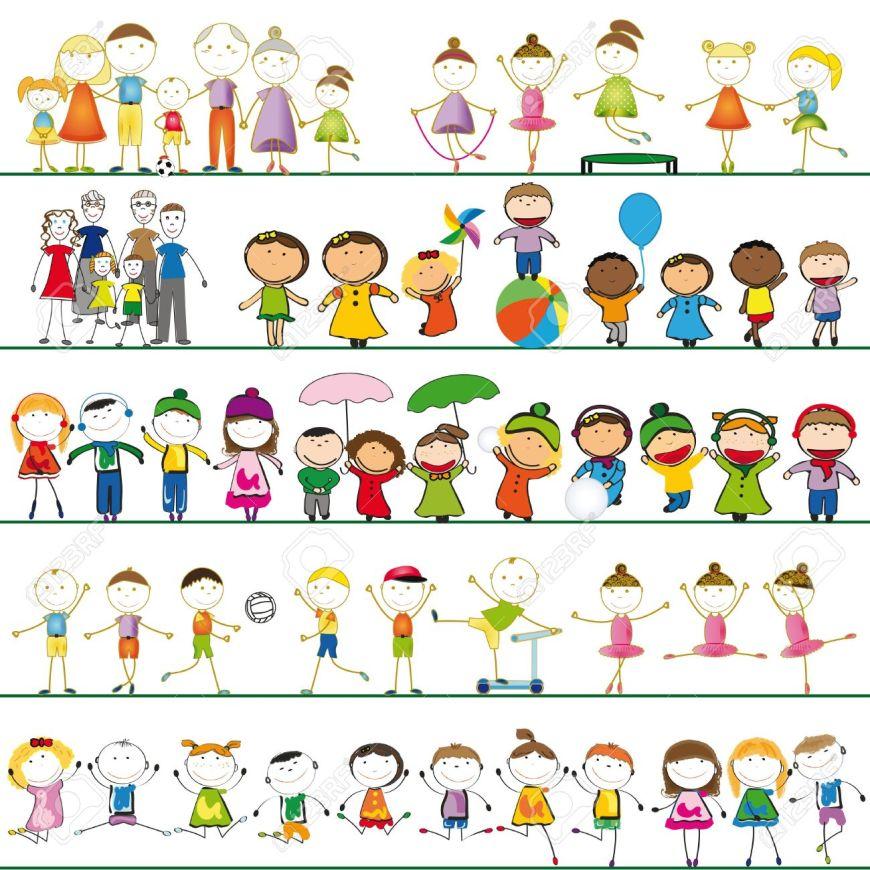 16244093-viele-gruppen-von-jungen-m-dchen-und-familie-lizenzfreie-bilder