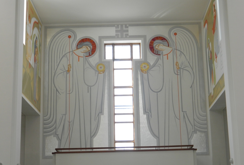The Archangels in Stone,Paint,Wood