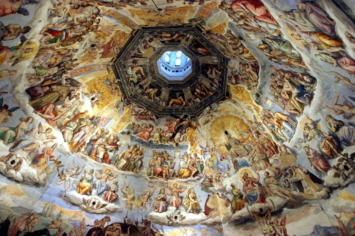 vasari_s_fresco_of_the_last_judgment_inside_the_dome