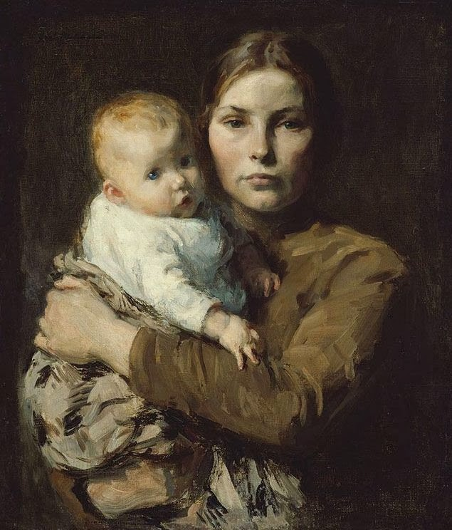 gari_melchers_-_mother_26_child