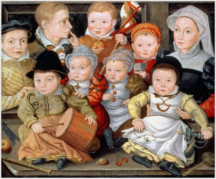 721px-jacob_seisenegger_portrait_of_a_mother_with_her_eight_children